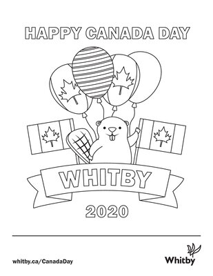 Canada Day Colouring Page, July 1, 2020