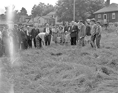 Sod Turning for Natlie Knitting Mills, 1946