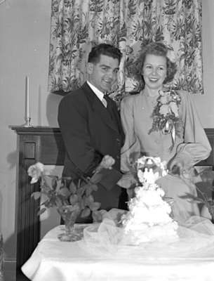 Unidentified Bride and Groom, c.1940s