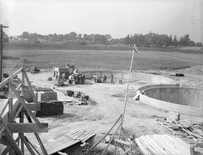 Construction of Sewage Treatment Plant, 1948