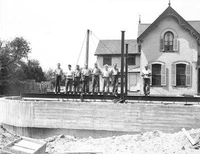 Construction of Spruce Villa Hotel Addition, 1948