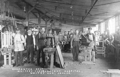 Carpenter Shop at Military Convalescent Hospital, 1918