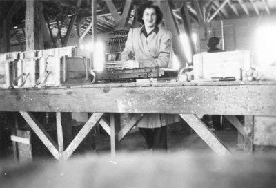 Doreen Gellich at Brunton Lumber Company, c.1942