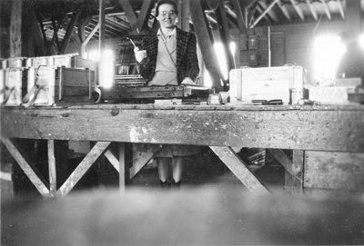 Unidentified Forewoman at Brunton Lumber Company, c.1942