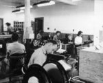Interior of Communications Centre, Camp X, 1942