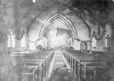 Interior of All Saints' Anglican Church, 1866