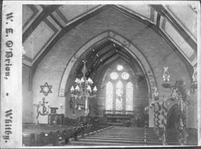 Interior of All Saints' Anglican Church, c. 1890