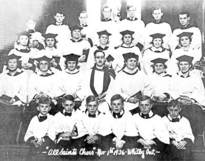 All Saints' Anglican Church choir, 1936