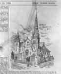 Sketch of Methodist Tabernacle from Special Edition on Whitby and Oshawa of The Globe, 1889