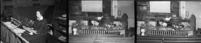 Kathleen Rowe at Organ, Whitby United Church, October 9, 1939 (3 frames)