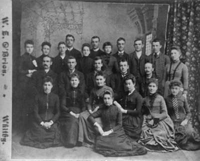 St. Andrew's Presbyterian Church Choir, c.1885