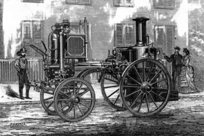 Merryweather Steam Fire Engine at Montreal, 1873