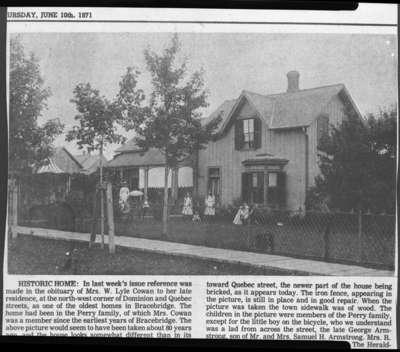 Residence of Robert Peter Perry located at Bracebridge, Ontario, c.1891