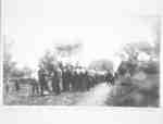 Ontario Hospital Men Leaving for Second World War on Hospital Road