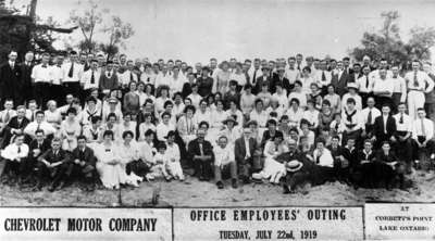Employee Picnic at Corbett's Point 1919