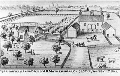 Residence and Farm of J.R. Matthewson