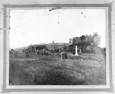Mule Train Wreck on the Canadian Pacific Railway