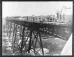 Construction of Canadian Northern Railway Trestle over Devil's Den
