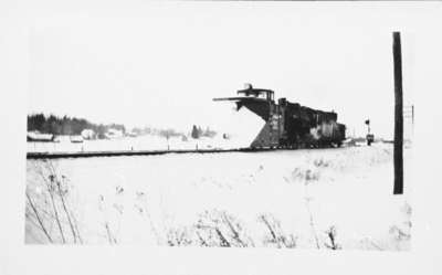 Snow Plow on Canadian Pacific Railway