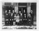 Town Council and Staff in front of Town Hall, 1928