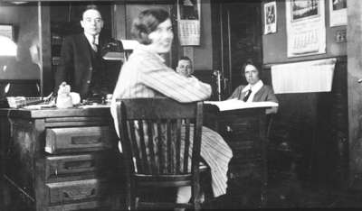 Town Staff in Municipal Office, 1928