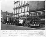 Whitby Fire Department Members with Fire Engines