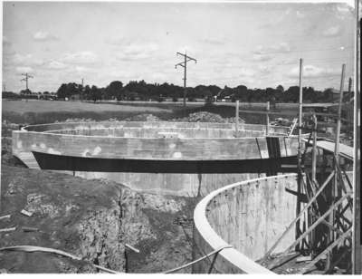 Construction of Sewage Treatment Plant, July 28, 1948