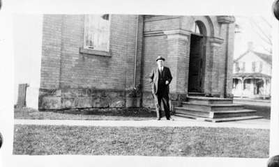 William Correll in front of Ontario County Land Registry Office