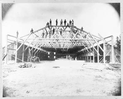 Construction of Burns Arena