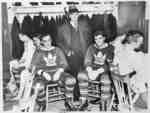 Norman McCarl with King Clancy and Busher Jackson at Maple Leaf Gardens