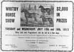 Whitby Horse Show Advertisement, 1913&nbsp;