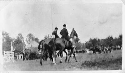 Horses and Riders at Whitby Horse Show, c.1913-1914
