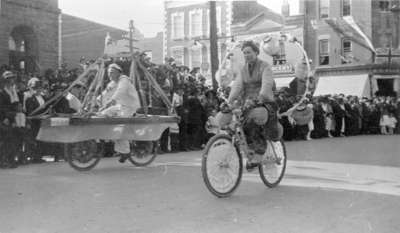 Parade for the Opening of Pavement in Downtown Whitby, 1921