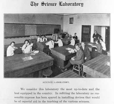 Whitby Collegiate Institute Science Laboratory, 1918