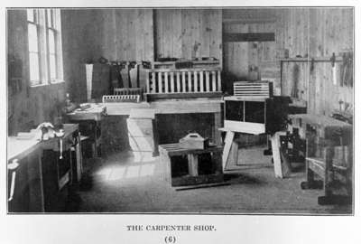 Whitby Collegiate Institute Carpenter Shop, 1918