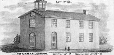 Whitby Grammar School, c.1860