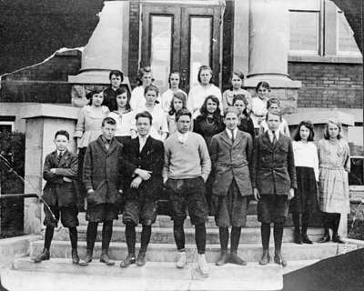Henry Street School Senior Entrance Class, 1921