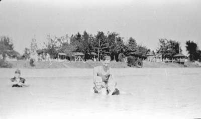 Swimming in Lake Ontario at Heydenshore Park, 1921