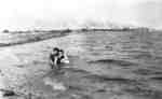 Swimming at Whitby Harbour, c.1915