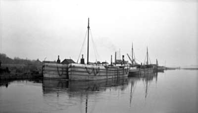 Boats at Whitby Harbour, c.1930