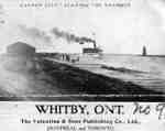 Garden City  Steamship Leaving Whitby Harbour, c.1909