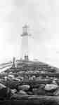 Lighthouse at Whitby Harbour, c.1910