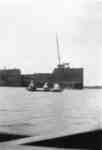 Wooden Freighter and Canoe on Whitby Harbour, c.1925
