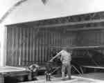 Whitby Harbour Airplane Hanger Interior, 1935