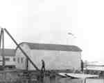 Norman Irwin's Airplane Hanger at Whitby Harbour, 1935