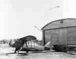 Airplane and Hanger at Whitby Harbour, 1936
