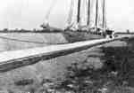 Sailboat at Whitby Harbour, c.1925