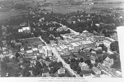 Whitby Aerial View, 1919. Whitby Archives Collection.