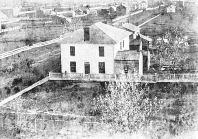 Looking South from Ontario County Courthouse, c.1863