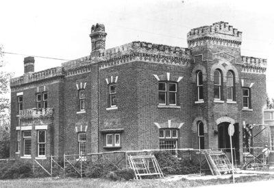 Hatch House Under Construction, 1973